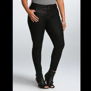 Torrid Premium Black Coated Jegging 22 Leather NWT